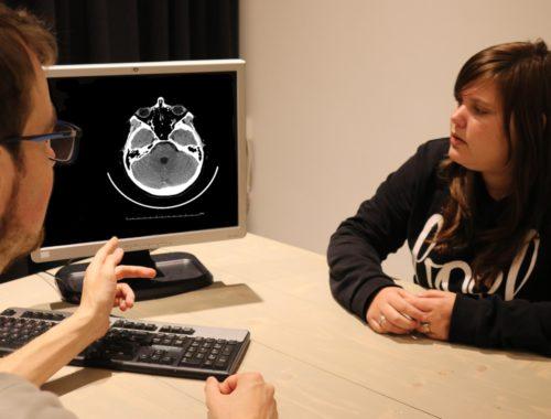 De uitslag van de MRI-scan van mijn hoofd
